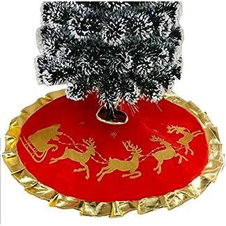 Da.Wa 1X 100CM Rojo Árbol de Navidad Falda Alces de Navidad Pie de árbol de Navidad pie de árbol Navideño