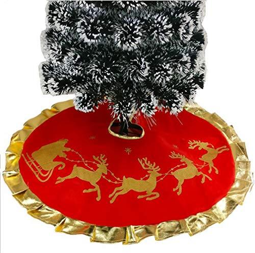 Da.Wa 1X 100CM Rojo Árbol Navidad Falda Alces Navidad