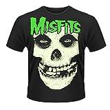 Plastic Head Men's Misfits Glow Jurek Skull Crew Neck Short Sleeve T-Shirt