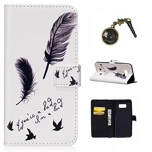 Preisvergleich Produktbild Galaxy S8 Plus Case Leder Tasche Case Hülle im Bookstyle mit Standfunktion Kartenfächer für (Samsung Galaxy S8+ / S8 Plus (6,2 Zoll) Hülle +Staubstecker (14)