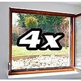 Lot de 4 moustiquaires pour fenêtre