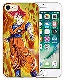 FRANCE DIFFUSION Coque Plastique Dur iPhone 7 & iPhone 8 Manga Dragon Ball Z Super GT Sangoku DBZ Super Saiyan Red Evolution