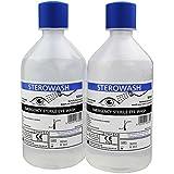 Steroplast Sterowash Salino Lavado De Ojos Solution - 2 x 500ml Botellas