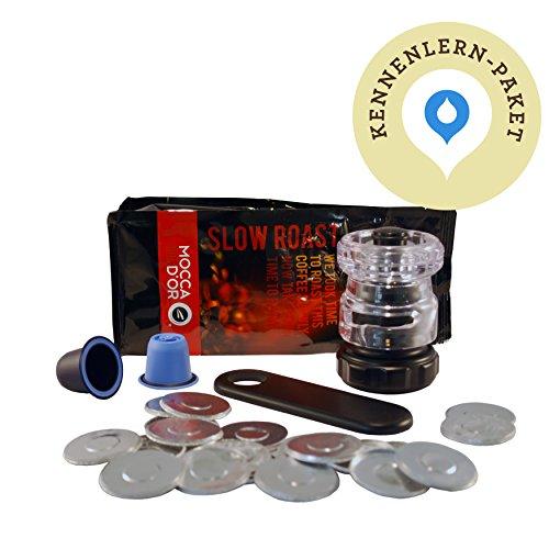 Bluecup-Kennenlern-Paket-2x-Wiederbefllbare-Nespresso-Kaffeekapseln-wiederverwendbare-Kaffeekapseln-100-x-Aluminiumdeckel-1-x-Cupcreator-1-x-Lffelhalter-Gemahlener-Kaffee-Umweltfreundliche-Mehrwegkaff