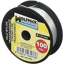 Wolfpack 16010360 Rollo de Hilo (Nylon, 100 m x 1 mm) Transparente