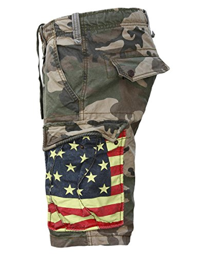 JET LAG Cargo Shorts SO16-22 army green camouflage USA Camouflage
