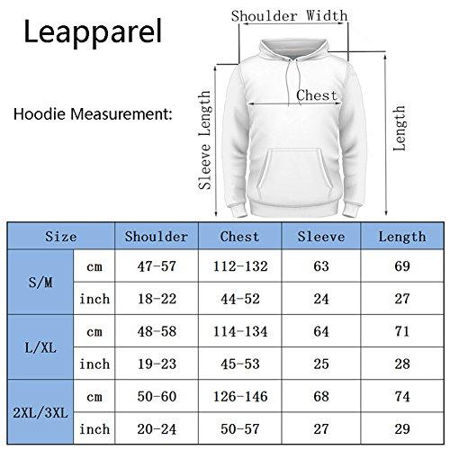 Leapparel Unisex Bunte 3D Pullover Hoodie Sweatshirt für Männer und Frauen mit großen Tasche Cool Graphic Prints Beef