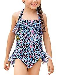 Verano Niña Conjunto de Bikini Traje de Baño Flores Bañador ...