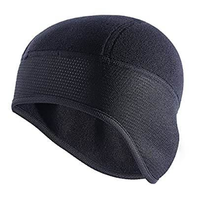 TAGVO Skull Cap, Winter Fleece Running Beanie Headwear with Ear Covers, Helmet Liner for Adults Women and Men Elastic Size Universal from Tagvo