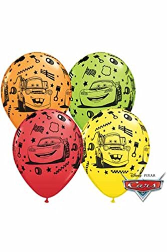 Image of Disney Cars Lightning McQueen Birthday Party Latex Balloons 5pk by Qualatex