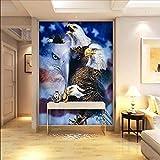 Ytdzsw Personnalisé 3D Papier Peint Photo Papier Peint Stéréo 3D American Eagle Peinture À L'Huile Salon Personnalisé Papier Peint Salon Studio Mural-350X245Cm