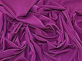 Minerva Crafts ity Polyester Stretch Jersey Knit Stoff-Plum–Meterware