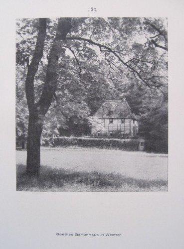 Weimar: Goethes Gartenhaus / Eingang des Schlosses - historischer Fotodruck - 1926