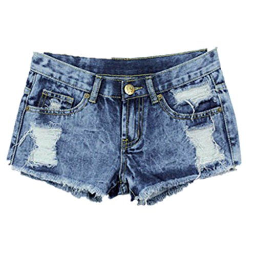Damen Hot Pants,Xinan 1PC Frauen-Sommer-Mode-Weinlese -Denim-niedrige Taille Jean Shorts Hot Pants (M) (Niedrige Jeans Taille)