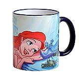 Elbenwald Arielle Disney Cup Sogno d'amore 320ml ceramica blu