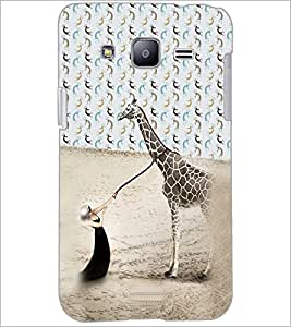 PrintDhaba Giraffe D-4944 Back Case Cover for SAMSUNG GALAXY J2 (Multi-Coloured)