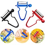 ██ Amazon's Choice ██ HOUSOME Magic Trio Peeler – Multi-Functional Vegetable Peeler For Kitchen, Set Of 3 Sharp Stainless Steel Blades With Non-Slip Handles Peeler For Fruits And Vegetables (3 Pcs)