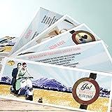 Einladungskarten basteln Hochzeit, Auf dem Weg ins Glück 200 Karten, Kartenfächer 210x80 inkl. weißer Umschläge, Blau