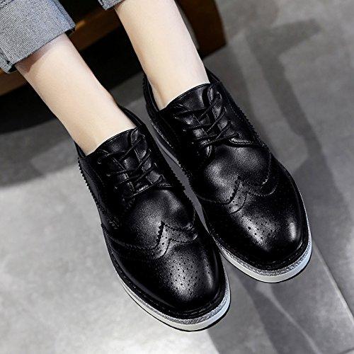 Wuyulunbi@ Scarpe a molla bianco scarpe scarpe Nero