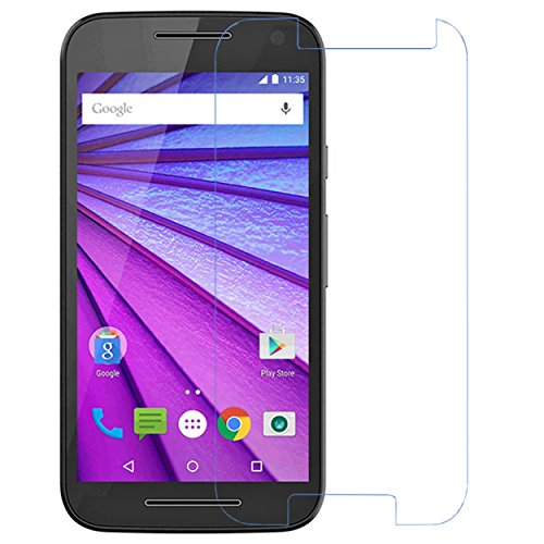 Heartly Protective 9H Hardness Nanometer Anti Explosion Tempered Glass Screen Guard for Motorola Moto G3 (Purple)