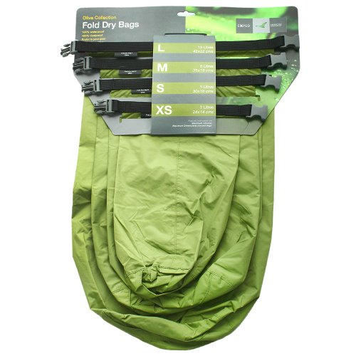 EXPED FOLD DRYBAG OLIVE (IN 4 SIZES) Love Rain Boot