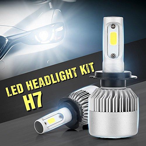 Preisvergleich Produktbild H7 LED Scheinwerfer Birnen, Auto All-in-One Umbausätze Glühbirnen zum Auswechseln Halogen Scheinwerfer, 6000K, 6000LM