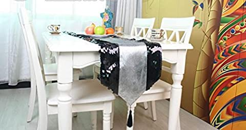 ZHUOQI Table Runners Postmodern Neo-Classical Candle Table Flag Striped Home Textile Tablecloths Linen Tablecloth Black