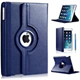 Apple Ipad Mini 360 rotation case with Screen Protector by DN-TECHNOLOGY® (iPad Mini / Mini 2 / Mini 3 , Blue)