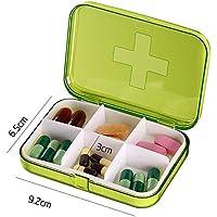 elezay Tragbare Pille Fall 4Fächer Medizin Pille Box, grün, grün preisvergleich bei billige-tabletten.eu