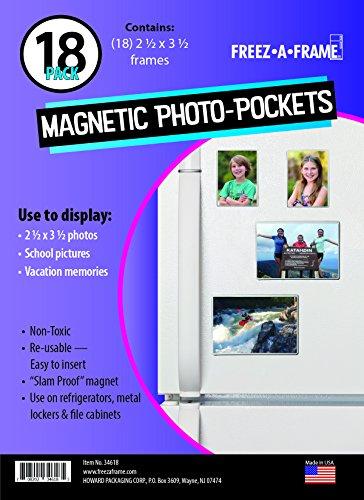 re Magnetische Foto Rahmen Taschen 18Stück 2.5 x 3.5 Weiß ()