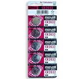 alta qualità pile a bottone Maxell CR2032 5 pezzi Blister, 3,0 Volt, RILEVATORI, Batteria di MAXELL
