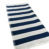 Algodón Barras Azules Y Blancas Toallas De Playa Engrosamiento Barras De Color Hoteles Grandes Toallas Absorbentes,BlueAndWhite-75*150-650G