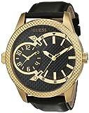Guess Herren Analog Quarz Uhr mit Leder Armband W0788G3