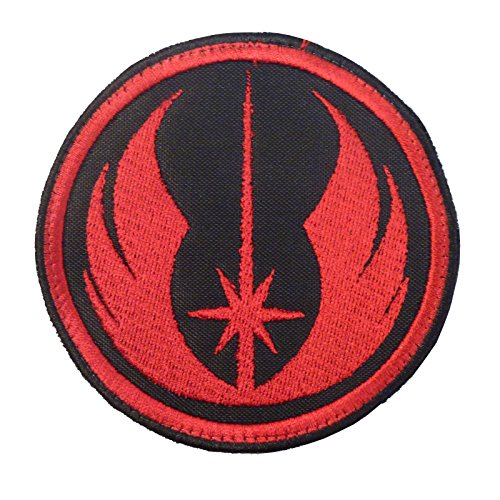 Star Wars Jedi Order Red Embroidered Sew Termoadesiva Toppa Patch