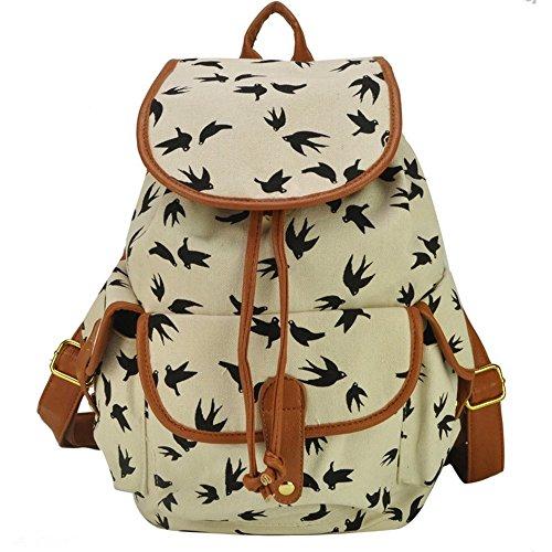 Mädchen-Damen-Freizeit-Rucksack Tier Printed Bag Reiserucksack 3#