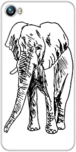Snoogg sketch of elephant vector illustration Designer Protective Back Case Cover For Micromax Canvas Fire 4 A107