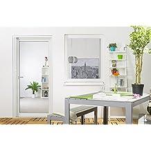 Insektenschutz-Fenster Basic 100 x 120 cm in Weiß, Braun oder Anthrazit, als Bausatz, auf Maß geschnitten oder komplett aufgebaut, Fliegengitter mit Alurahmen und hochwertigem Fiberglasgewebe in Schwarz