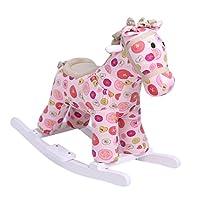 iBonny Baby Rocking Horse Plush Animal Ride On Toys for Toddler Child