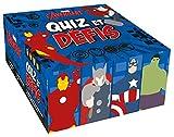 Avengers Quiz et Défis : 1 plateau de jeu, 4 pions, 1 dé, 1 livret