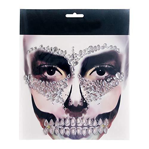 Teil Stadt Halloween Kostüm - Blanchel Halloween Gesicht Gem Sticker Removable