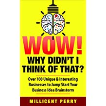 Wow! Why Didn't I Think of That?: Over 100 Unique & Interesting Businesses to Jump Start Your Business Idea Brainstorm (English Edition)
