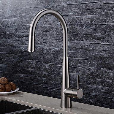 Küchenarmaturen Küchenarmatur Zeitgenössisch Mit ausziehbarer Brause Messing Gebürstet -