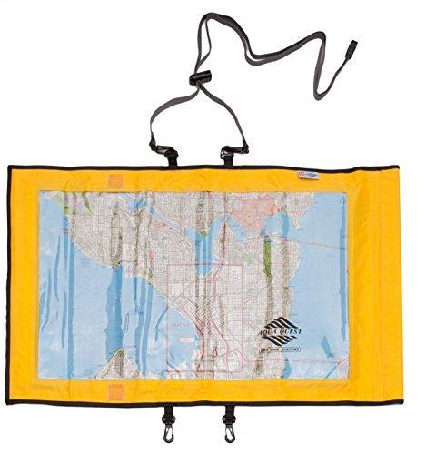 Aqua-Quest 'The Trail' Waterproof Map Case Transparent Dry Bag - Yellow Model by Aqua-Quest