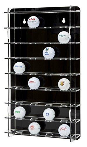 SORA vitrine de balle de golf acrylique pour 32 balles de golf, avec panneau arrière noir