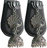 #5: Buy Silver Color Designed Jumka Earring Online (German Silver)
