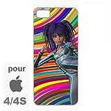 creosoleil Coque iphone Bords Souples TPU Silicone Caoutchouc Manga Girl Pop pour...