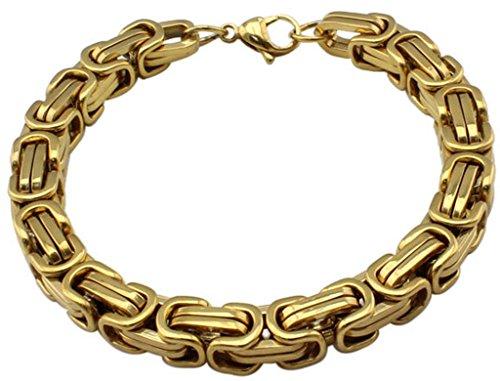 mens-bangle-bracelet-stainless-steel-golden-boss-byzantine-style-link-wrist-08215cm-by-aienid