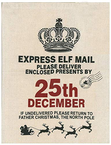 Shop inc Saco Navidad Elf Correo Trineo Diseño 41cm