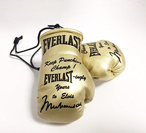 Handsignierte Mini Boxhandschuhe Special Edition Muhammad Ali als Elvis Presley gegeben Ali Boxhandschuhe