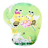 TUKA Handgelenkauflage Mouse pad Ergonomische, mit Gel Gefüllte Handgelenkunterlage, Tier Motiv Gel Mauspad Handauflage, mit Lustigem Cartoon Motiv, TKC5100 twobees